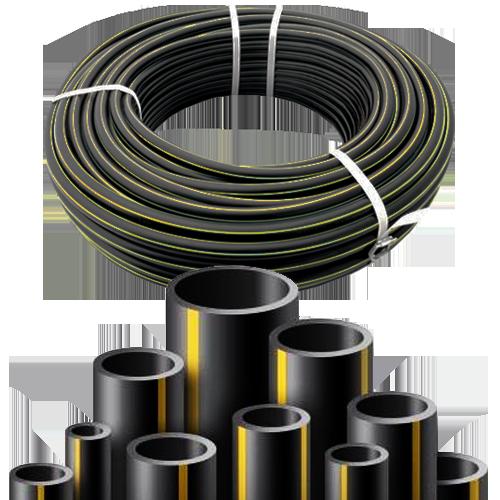 Труба гладкая полиэтиленовая ГОСТ50838-2009 для газоснабжения