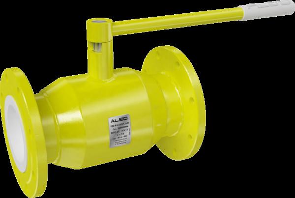Газовый шаровый кран фланцевый, редуцированный/полнопроходной
